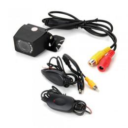 Wholesale Wireless Rearview Camera Transmitter - 9 LED 120 Degree Car Reversing Rearview Backup Camera + Wireless Transmitter Receiver