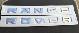 Wholesale Range Rover Hood - 1PCS NEW RANGE ROVER SILVER 3M LETTERS HOOD OR TRUNK TAILGATE EMBLEM BADGE NAMEPLATE Free shipping YY187
