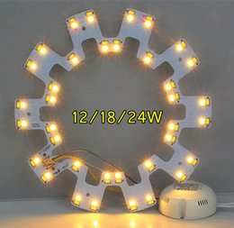Wholesale led lighted circles - 12W 18W 24W LED Circle PANEL Light round circular Ceiling lamp SMD 5730 LED board for ceiling light AC110-240V + Driver