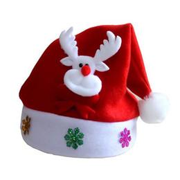 Wholesale Santa Hat Beanie - 2017 New Kids Christmas Hat Children Santa Claus Reindeer Snowman Cap Xmas Party decoration for home Natal New Year Supplie 77