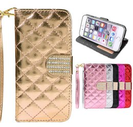 Wholesale Galaxy S4 Diamond Cases - Galaxy Note5 S6 S7 edge Luxury Diamond Rhinestones Wallet Case For iPhone 6 Plus 4 4S 5 5S SAMSUNG GALAXY S4 S5 Note5 S7 edge