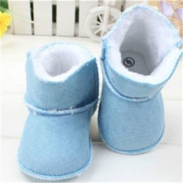 Wholesale Baby Girl Winter Walker Shoes - Winter Baby Snow Boots Fur Knitted Wool Thicken Warm Toddler Boy Girl Shoes Kids Shoes First Walker Infant Newborn Baby Shoes