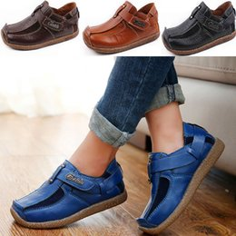 Wholesale Child Leather Shoes - Hot Jeff Store Casual Shoes Leather Shoes Kids Children Genuine Leather Shoe Sneakers Shoes Boys Christmas Party Xmas Gift WX-C11