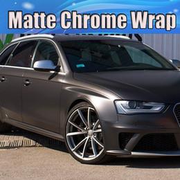 Adesivos de pele on-line-Envoltório de vinil fosco metálico cinza escuro Gunmetal para estilo de carro cobrindo adesivos Antracite Matt cobrindo o tamanho da pele 1.52x20m / rolo 4.98x66ft