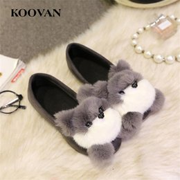 Wholesale Office Dress Pregnant - Lazy Cartoon Shoe Autumn Shoes Flat Heel 2017 New Pregnant Women Cotton Shoes Fox Head Factory sale Non-Slip Soft Bottom High Quality W205