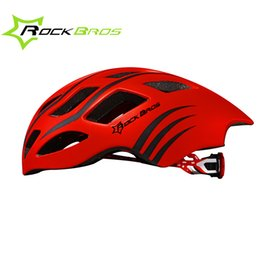 Wholesale Material Eps - Wholesale-ROCKBROS Bicycle Cycling Ultrafast Helmet EPS+PC Material Ultralight Integrally-molded Road Bike Helmet 17 Air Vents 5 Colors