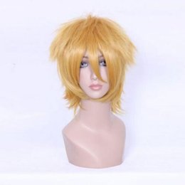 Wholesale Short Blonde Anime Cosplay Wigs - 100% free shipping New High Quality Fashion Picture full lace wigs>>Cosplay shima renzou Anime Short golden Straight Lolita Party Synthetic