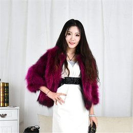 Wholesale Haining Fur - Raccoon fur coat jacket female fox fur short winter season's Haining 2017 winter fur coat