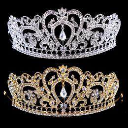 Wholesale Royal Wedding Veils - PrettyBaby NEW Royal Luxury Shining rhinestone Baroque Wedding Crowns Bridal Veil Tiara Crown Headband High Quality