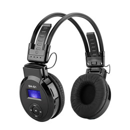 Wholesale Sports Folding Headphones MP3 Player with LCD Screen Support mirco SD Card Play FM Radio Wireless Music Earphone On ear Foldable MP3 Headset