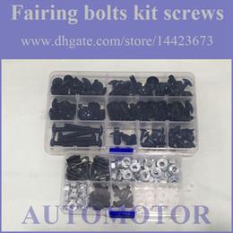 Wholesale Screw Fairings - Fairing Screw Bolts Kit black For SUZUKI GSX-R600 01-03 GSXR600 GSXR 600 GSX R600 K1 01 02 03 2001 2002 2003 Fairings Bolts Screws