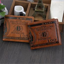 Canada Exporter mode hommes dollar bourse portefeuille mélanger designer en cuir créativité créativité détenteurs de la carte portefeuilles couleur brun foncé et clair livraison gratuite cheap dark brown purses Offre