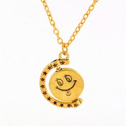 Smiley face pendant coupons promo codes deals 2018 dhgate coupon mic 20pcs new europe and america antique gold alloy smiley face charm pendant necklace deals aloadofball
