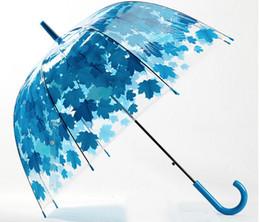 Wholesale Umbrellas Cute - Wholesale 4 Colors Leaves Cage Umbrella Transparent Rainny Sunny Umbrella Parasol Cute Umbrella Women Cute Clear Paraguas