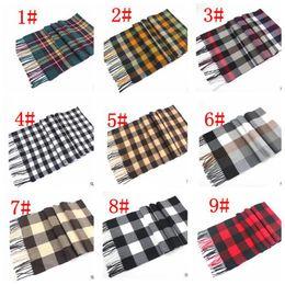 Wholesale Plain Scarve - kid Winter scarf Blanket Tartan Plaid Warp Shawl Warm Winter Scarve Tartan Scarf Tassels Wrap Shawl Plaid Cozy Checked