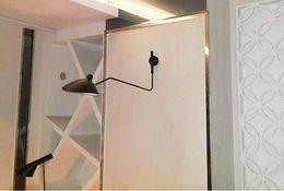 UK led arm sconce - Modern 1 Arm Serge Mouille Pole Led Wall Light Fixtures Europe Creative Vintage Bedroom Sconce Iron Lampshade for Room 110-240V