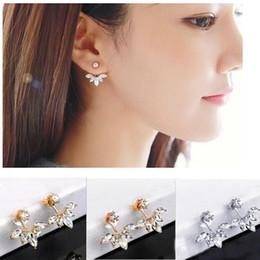 2019 jóia coreana bonito da forma Mulheres Hot Bonito Senhoras de Cristal Da Flor Da Margarida Da Orelha Do Parafuso Prisioneiro de Moda Meninas Brincos Estilo Coreano Acessórios de Jóias frete grátis jóia coreana bonito da forma barato
