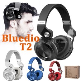 Wholesale New T2 - Original Bluedio T2 Headphone Wireless Bluetooth 4.1 Earphone With Mic Support TF Card FM Bass Stereo Headset 2017 New Arrival DZ09 V9