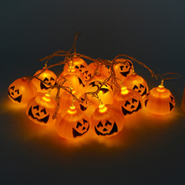 Wholesale Pumpkin Holders Wholesale - Halloween Decoration Party light 110v 220V Pumpkin Led String Light 16 Lamp Holder Bar Decoration Fairy lights Christmas Festival Lamp