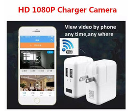 Wholesale Wifi Usb Security Camera - 2017 New Wireless Wifi HD 1080P Spy Cam AC Plug Charger DVR Hidden Wall Charger Camera USB Adapter Home Security Socket Camera