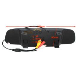 Kostenloses dropshipping-auto online-Dropshipping, wasserdichte Nachtsicht-Auto-hintere Ansicht-Kamera mit 4,3-Zoll-Farbe LCD-Auto-Spiegel-Monitor, freies Verschiffen