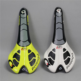Wholesale New Bicycles - 2017 New Italy Super leather prologo CPC road bike saddle black white red yellow blue cycling bicycle cushion seat free shipping