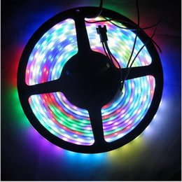 Wholesale Led Strip Lights Ip68 - 5M Digital RGB WS2811 LED Strip Light 5050 SMD Waterproof IP67 IP68 Addressable WS2811ic DC12V 30 48 60 Pixels Dream Color