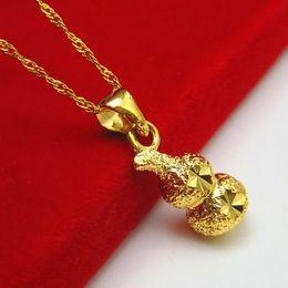 Wholesale Gold 18k 24k Chain - Color gold necklace imitation gold pendant 24K female male gold 18K gold thin gold chain hoist