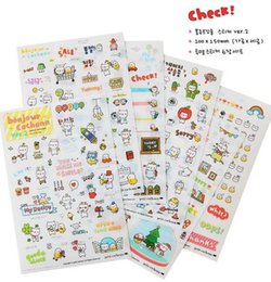 Wholesale Korea Diary Cute - 6pcs pack Korea Cute Pig Life series PVC Diary stationery Sticker set DIY Note sticker Decoration label Multifunction Wholesal , free shippi