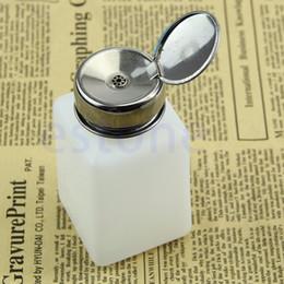 Wholesale Alcohol Pump Dispenser - Wholesale- 200ML Nail Polish Liquid Alcohol Empty Pump Dispenser Remover Cleaner Bottle