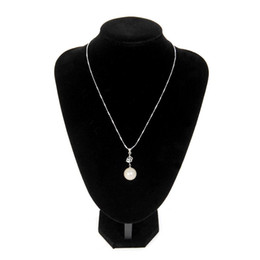 Wholesale Display Forms - Black velvet Necklace Jewelry Display Bust Neck Form Presentation #24X18cm Shipping