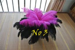 Черные розовые перья онлайн-Оптовая горячие розовый и черный из страусиных перьев для свадьба центральным свадьба декор свадьба центральным свадьба декор