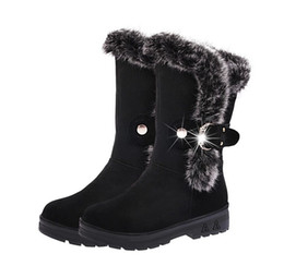 Wholesale Ladies Fashion Rubber Boots - Snow Boots Botas femininas Ankle Boots for Women 2016 Fashion Lady Boots Winter Boots Zapatos Mujer Shoes Women's Winter Short plush Boots