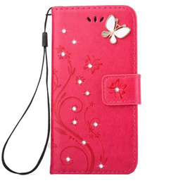 Wholesale Mobile Phone Wallet Set - For iphone 7 7plus 6s 6splus 6 6plus Mobile phone sets clamshell Lanyard Rhinestone holster shock-resistant Back Mobile phone cover