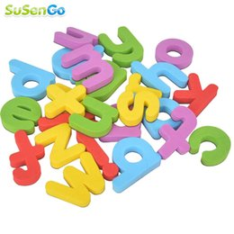 Wholesale Letter Magnets For Fridge - Wholesale-Alphabet Magnet A to Z Foam Letter Kids Toys Fridge Early Learning Educational Letters Recoginize Toy Puzzle Gift for Children
