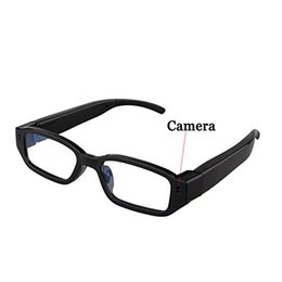 Wholesale Hd Hidden Camera Glasses - 720P Spy Glasses Camera Mini Spy Cam HD Eyewear Video Recorder Hidden Sunglasses Camcorder DVR Support TF card