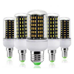 Wholesale E22 Led - Corn lamp LED bulbs light AC220V 110V 36 56 72 96 138Led Ultra High luminous flux 4014 SMD E27 E14 GU01 G9 E22