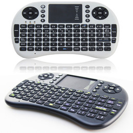 Wholesale Tv Wifi Keyboard - 2016 FlyMouse For Google TvBox MINI PC Touch Flying Squirrel A21 2.4G Wireless Qwerty Wifi keyboard With Smart TV A21 RII I8