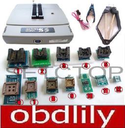 Wholesale Universal Ic Programmer - VS4800 Universal Programmer GAL EPROM FLASH 51 AVR PIC MCU SPI +SOP8 SOP28 tssop28 plcc44 32 28 20 socket+12 adapters IC clip