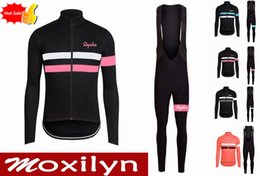 Wholesale Cycling Spring Set - custom Team Rapha cycling jersey bib pants sets Autumn Spring Tour de France Bisiklet wear bike maillot ropa ciclismo Bicycle MTB clothes