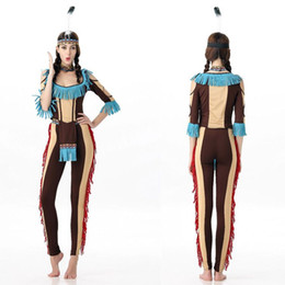 Wholesale Roman Costumes For Women - Halloween Indian costume for COSPLAY role-playing nightclub bar stage costumes