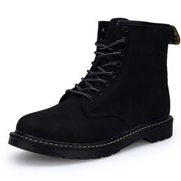 Wholesale Casual Ankle Boots For Men - Size 5~10 Spring Autumn Real Leather Martins Men Women Boots Snow Boots Military Girls for Casual Walking Shoes Winter men Bota 2017