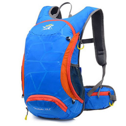 Wholesale Bicycle Bag Phone Orange - 15L Ultralight Waterproof Bicycle Shoulder Backpack Sport Outdoor Rucksack Cycling Riding Travel Backpack Hydration Water Bag