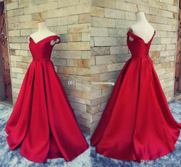 Wholesale Belt Prom Dress - 2017 Simple Dark Red Prom Dresses Long Formal Pageant Gowns With Belt Sexy V Neck Open Back Vintage Party Evening Gowns BA1610