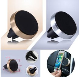Wholesale Galaxy Grand Charger - Universal Magnetic Mobile Car Phone Holder For iPhone 6 Samsung Galaxy Grand Prime Aluminum + Silicone Car Air Vent Stand Mount