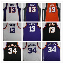 Wholesale Love Jerseys - Newest Men's 34 Charles 13 Steve Nash Barkley Jerseys Stitched 2017 All star Christmas Kevin Love Throwback Jersey Sleeve Tshirt Youth Kid