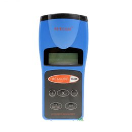 Wholesale Portable Calculators - Handheld LCD Ultrasonic Distance Meter With Laser Pointer Range 0.5m To 18m Portable RangeFinder With Area Volume Calculator
