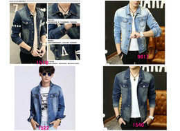 Wholesale Male Feather Long Jacket - Holiday Sale New free shipping in the spring Men's Slim denim jacket, denim jacket male cowboy clothes FREE SHIPPING