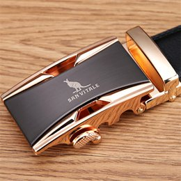 Wholesale Gold Belts For Men - Famous Brand Belt Men 100% Good Quality Cowskin Genuine Luxury Leather Men's Belts for Men,Strap Male Metal Automatic Buckle