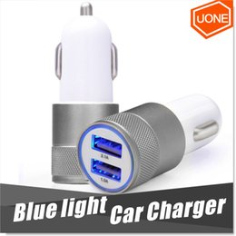 Wholesale Uk Usb Car Adapter - Best Metal Dual USB Port Car Chargers Charging Adapter Universal for Apple iPhone iPad iPod   Samsung Galaxy   Motorola Droid Nokia Htc